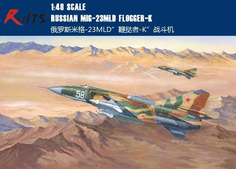 RealTS Trumpeter 1/48 Russian MiG-23 MLD Flogger K Plastic Model Kit 02856