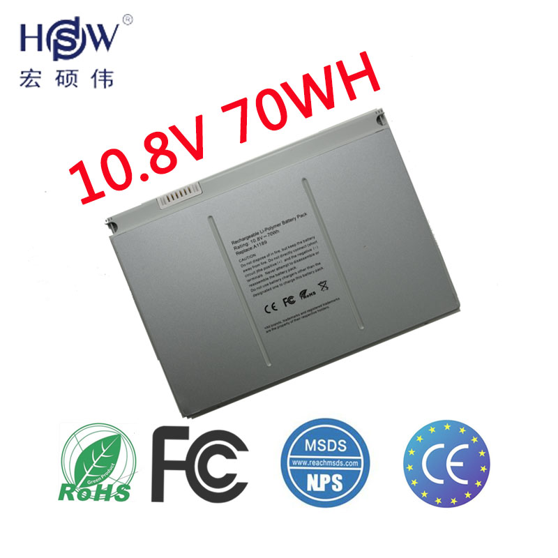 HSW Laptop Battery A1189 For Apple MacBook Pro 17 Inch MA092TMA897X/A MA611B A1151 A1212 A1229 A1261 bateria akku hsw laptop battery for fujitsu lifebook c1020 c1010 c1110 maxdata pro 6000t pro 6000x s26391 f2471 l400 ef3 ef4 baterie bateria