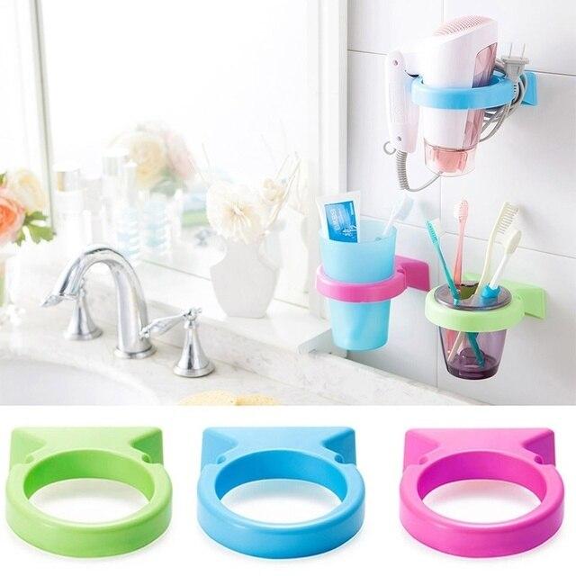 Hot Sale Plastic Sucker Hair Dryer Stand Kitchen Bathroom Storage - Bathroom appliances for sale