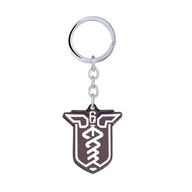 Game Hot Rainbow Six Keychian SiegeBlack Metal Key Chain Ring Holder Dog Tag Gift Pendant llavero Souvenir Dropshipping Chaveiro