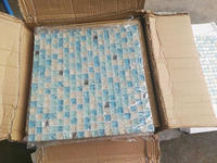 High Quality Blue Crystal Glass Mosaic Tiles for wallfor bathroom shower swimming pool DIY decorate 11pcs size 30*30cm