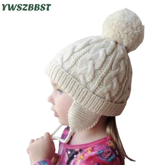 Bebé sombrero para Niñas Kids crochet las gorritas tejidas con el ...