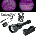 UniqueFire Hunting Flashlight Night Vision Torch 1405 OSRAM IR 940nm Led Zoom 3 Modes Lamp Torch+Scope Mount+Rat Tail+Charger