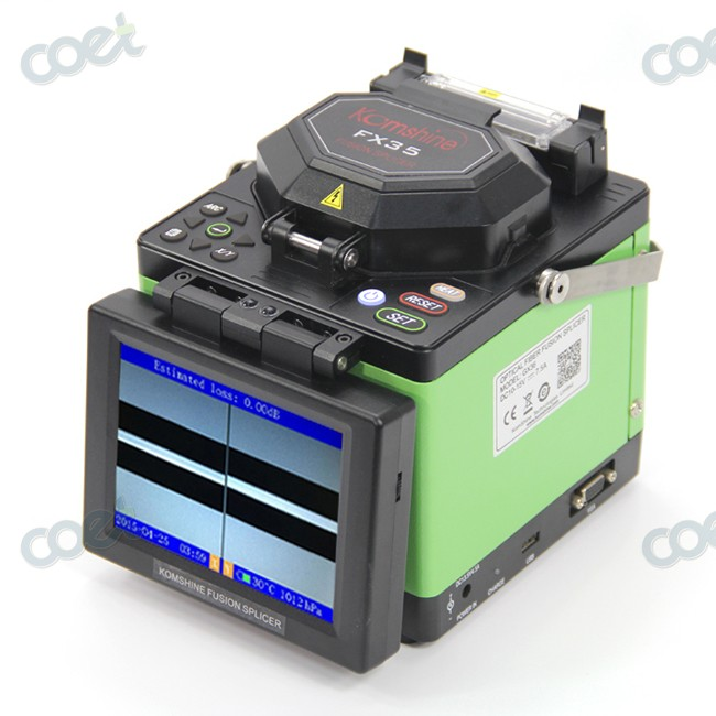 Komshine FX35 Fiber Optical Fusion Splicer for FTTx FTTH With Optic Fiber Cleaver Cooling Tray and all strippers