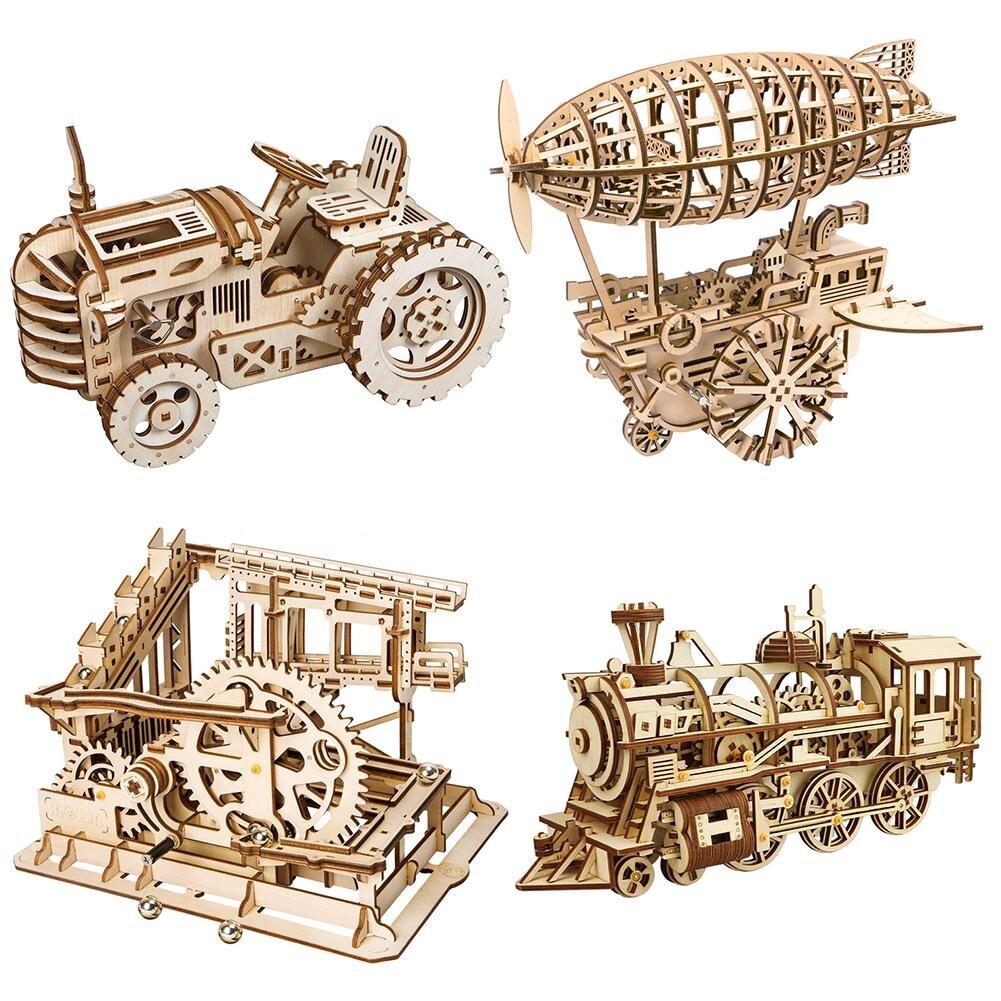 diy gear drive quebra cabeca de madeira mecanica modelo kits montagem blocos cartao de madeira criancas