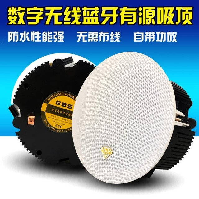 Waterproof Bluetooth Wireless Active Ceiling Speaker Background Music  System Bathroom Speaker 1 Main+1 Auxiliary