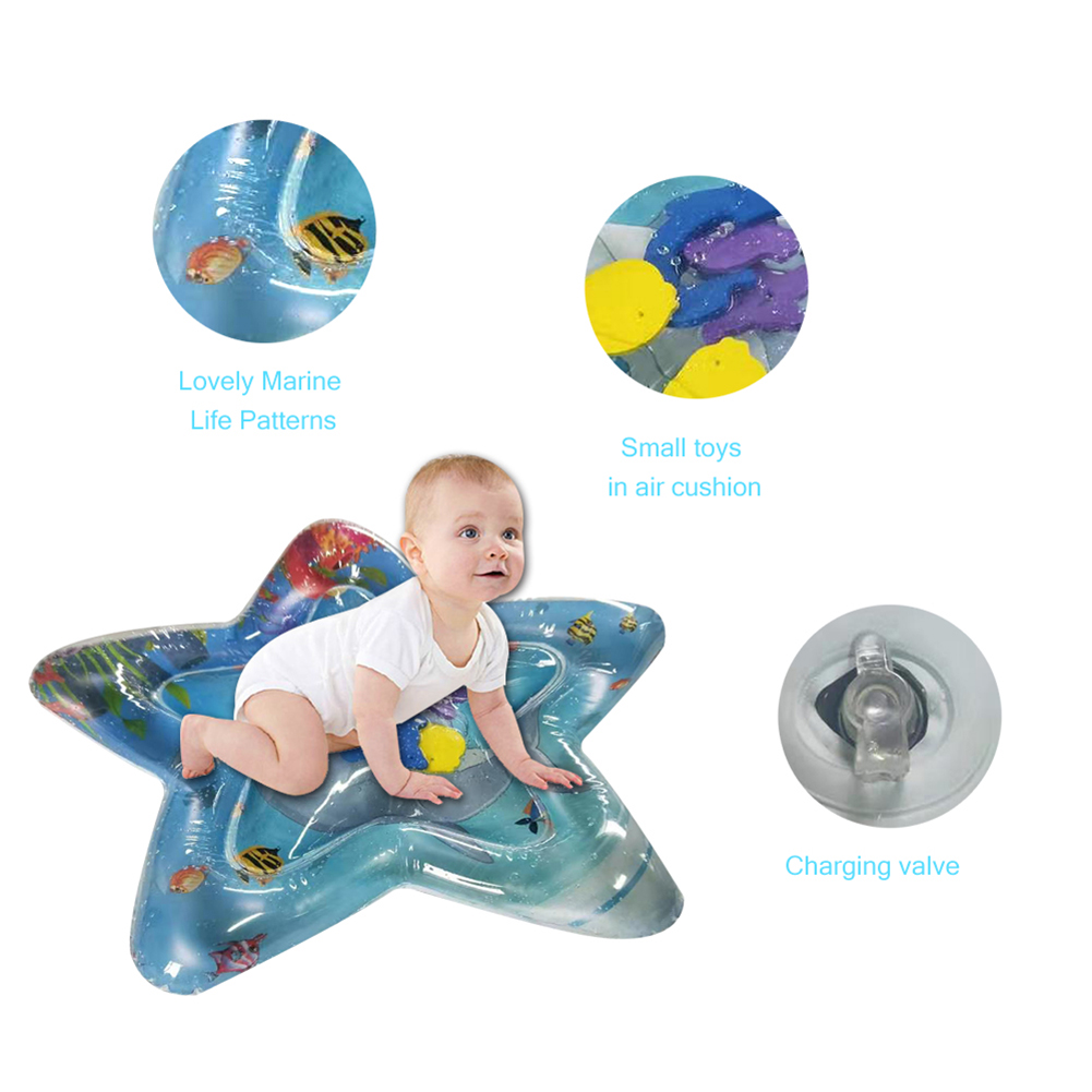 2019 Creative Dual Use Toy Baby Inflatable Patted Pad Baby Water Pad Inflation Mat Outdoor Party Play Splash Pat Cushion