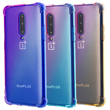 For oneplus 7 Case Clear Cute Gradient S