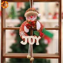1PCS Santa Claus/Snowman/Deer Merry Christmas Doll Tree Pendants Ornaments Home Christmas Party Xmas Tree Kids Gifts Decorations