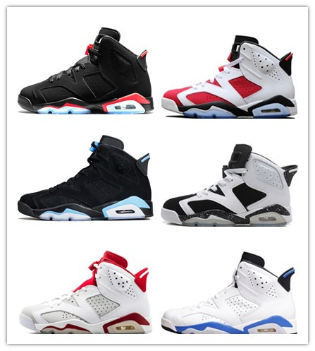 d0f513e0d0d6 6s Basketball Shoes Tinker UNC Black Cat White Infrared Red Carmine Green  Suede Toro Mens Trainer