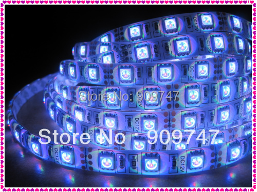 New 5050 SMD RGB 5M 300 led strip light waterproof +free china post+ 1 year warranty