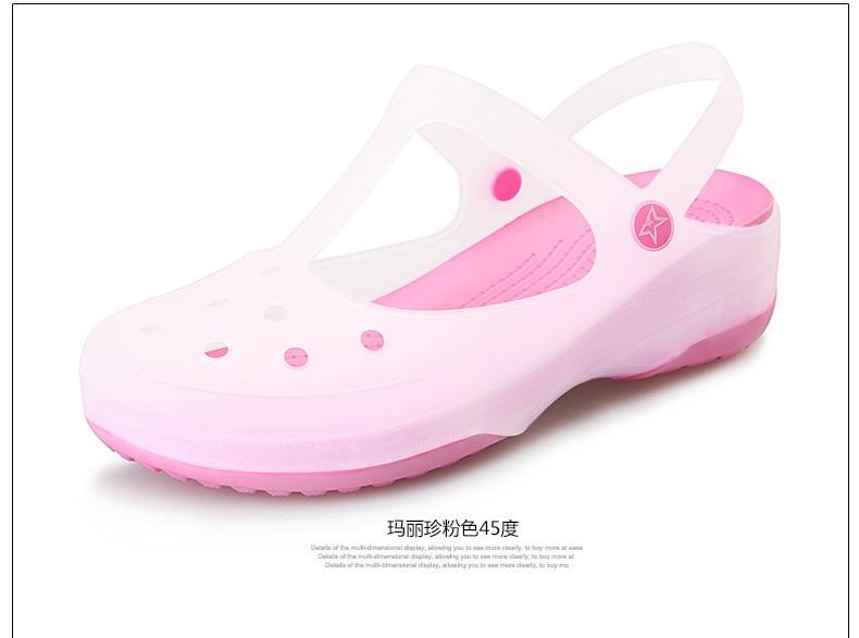New 2019 Classic Women Jelly Sandals Design Fashion EVA croc Carved Women Slides Famous Flat Slipper Women Beach Melissa Shoes