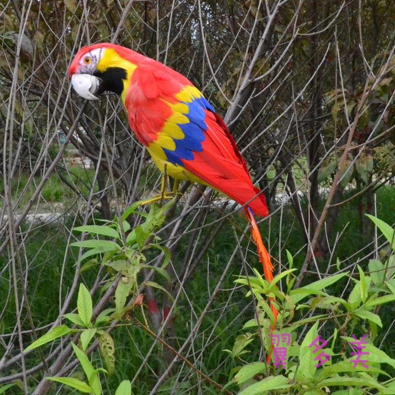 Grande 42 cm colorido penas de papagaio Arara, modelo Feito À Mão, polietileno & penas de aves, prop, casa decoração dom brinquedo w3943