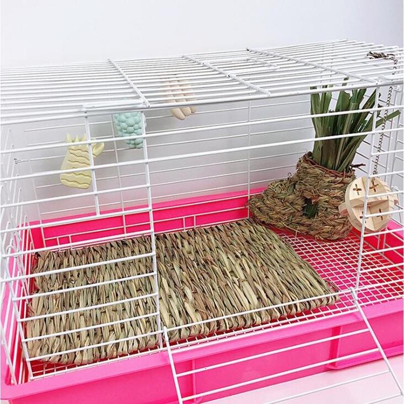 New Hamster Grass Mat Pet Rabbit Chew Mat Breakers Toy Small Animal Rat Guinea Pig Interesting Pet Toys