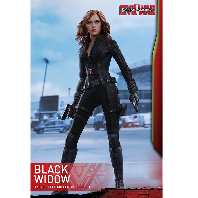1/6 Hot Toys Captain America Civil War Black Widow 5.0 Scarlett Johansson & Ant-Man Action Figure Collectible Full Set Model 1 6 scale male head sculpts model toys downey jr iron man 3 captain america civil war tony with neck sets mk45 model collecti f