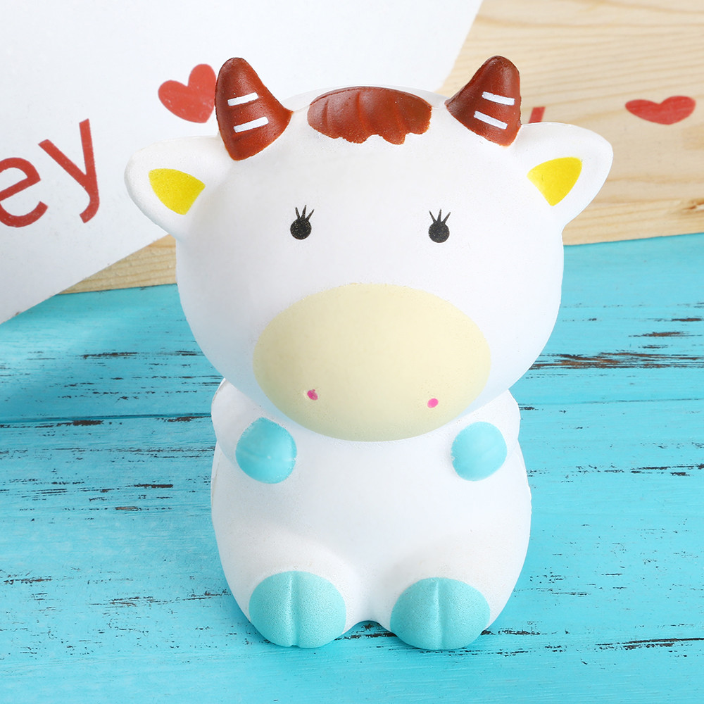 Kawaii Cattle Squishies Slow Rising Jumbo Doll Stress Reliever Antistress Soft Toy Squeeze сквиши антистресс игрушка