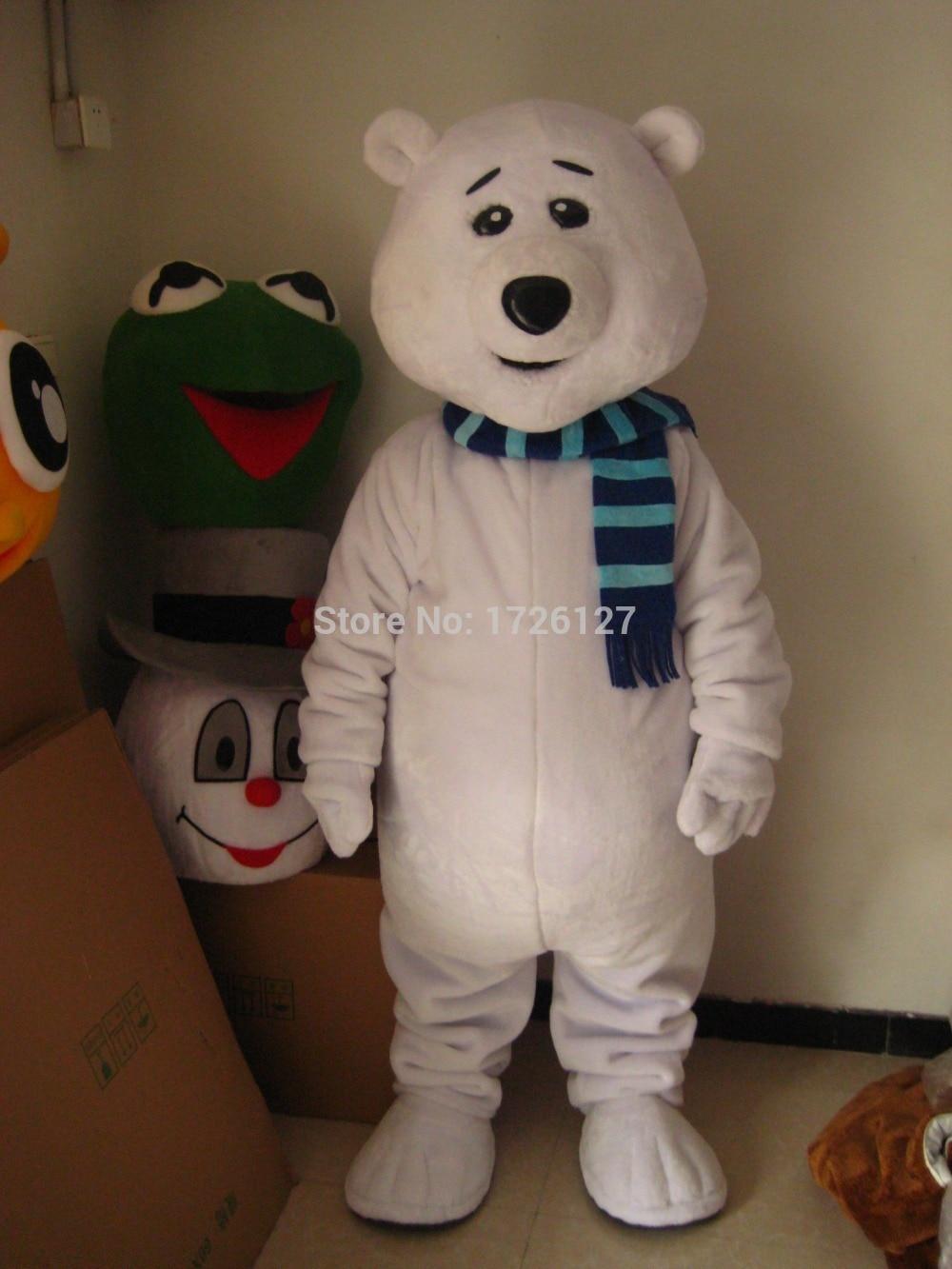 mascot polar bear white bear mascot costume custom fancy costume anime cosplay kit mascotte fancy dress carnival costume