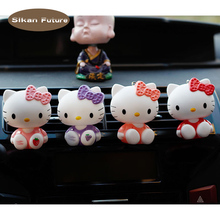 Car air conditioning freshener cute cartoon cat doll perfume clip decoration car outlet purifier fragrance deodorant