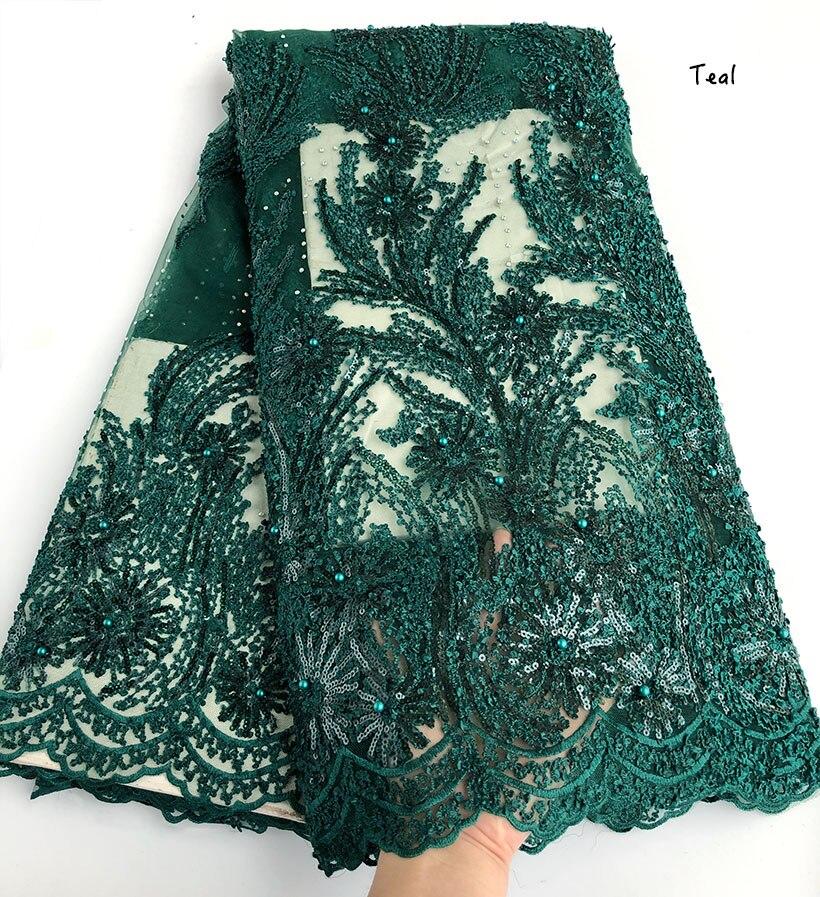5 หลา superior Gold neat เย็บปักถักร้อยแอฟริกันลูกไม้ฝรั่งเศสผ้าไนจีเรียฉลองเสื้อผ้าผ้า sequins คุณจะชอบ-ใน ลูกไม้ จาก บ้านและสวน บน   3