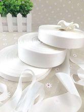 15mm--36mm undyed white 100% pure silk embroidery ribbon thin taffeta high quality Anya Ribbon Handcraft
