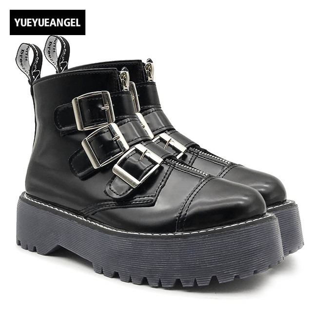 Nuevos de zapatos de Nuevos plataforma de Rock gótico Retro para mujer botas 227c08