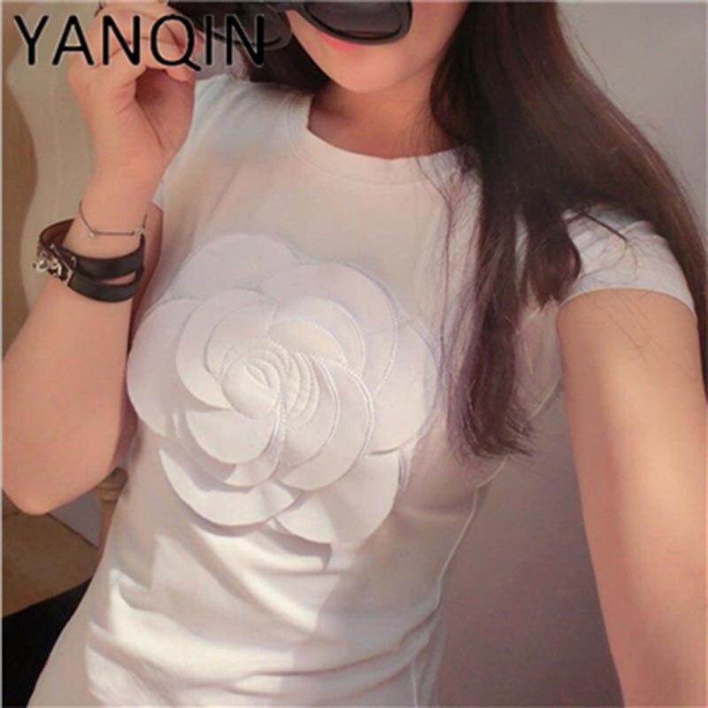 Gepäck & Taschen LiebenswüRdig Frauen Sommer 3d Camellia Stickerei Luxus T-shirt Damenmode Tops Dünne Beiläufige T-shirts Vetement Femal Fortgeschrittene Technologie üBernehmen
