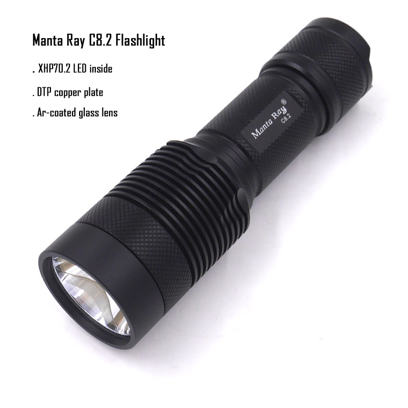 Manta Ray C8 2 Super Brightness CREE XHP70 2 LED Cool Neutral Warm white Light 3800