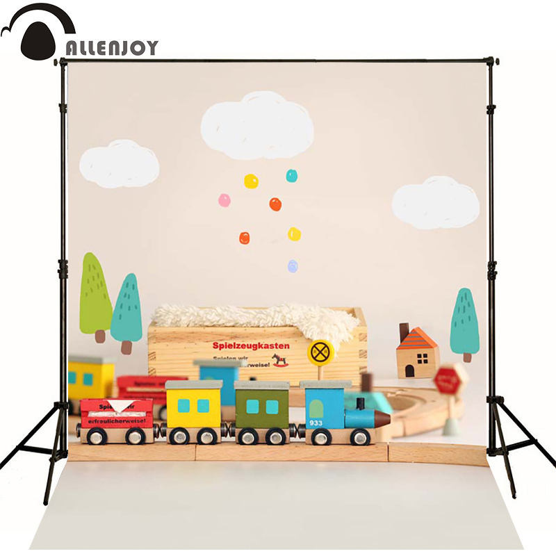 Allenjoy camera fotografica baby background toys Train indoor photography backdrop for lovely children photography backdrops 300cm 200cm about 10ft 6 5ft fundo harp moonlight candles3d baby photography backdrop background lk 1859