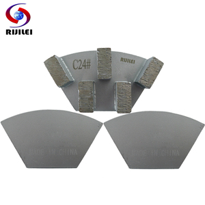 Image 5 - RIJILEI 12PCS Sector Metal Bond Diamond Grinding Disc for Concrete Floor Grinding Shoes Plate Strong Magnetic Grinding Disk A50