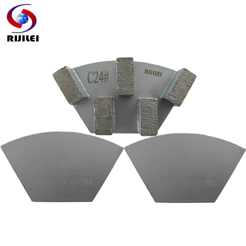 RIJILEI 12PCS Sector Metal Bond Disco de pulido de diamante para piso - Herramientas eléctricas - foto 5