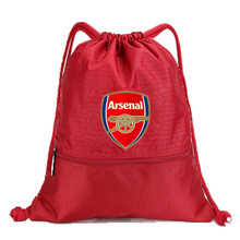 Drawstring Soccer Bag Arsenal Football Clubs Swerve Gym Bag Backpack Sport Bag Advanced Materials Waterproof and Durable