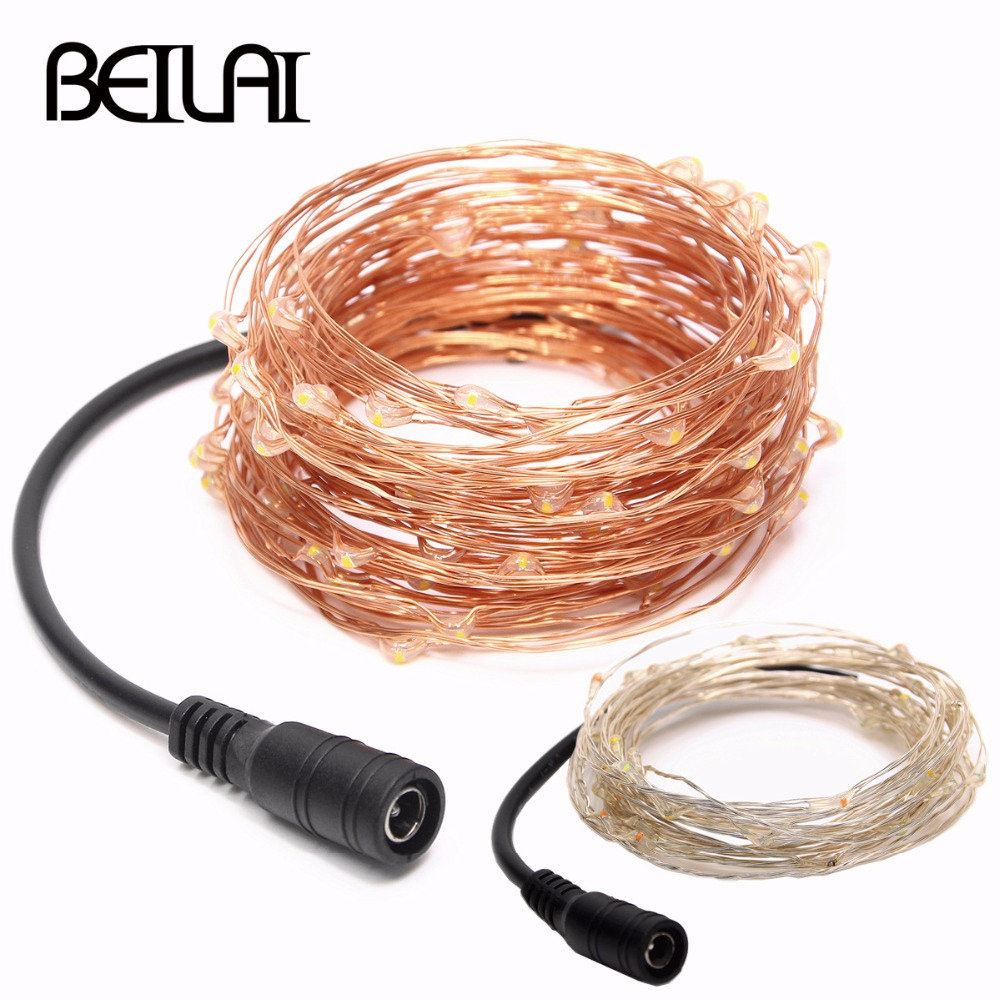 Fairy LED String Light 5M 10M 20M 30M 40M 50M DC12V Waterproof Silver Copper Wire For Party Christmas Wedding Holiday Decoration