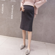 d1e573686e7ff new 2018 Elastic Waist Belly Maternity Skirts knitted Bottoms Clothes for Pregnant  Women Autumn Charming Pregnancy