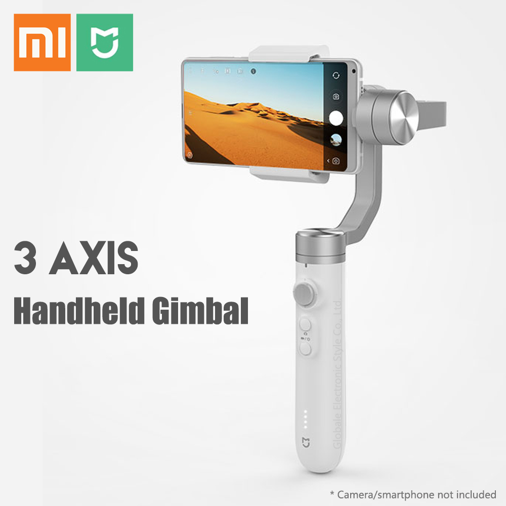 Original Xiaomi Mijia 3 Axis Handheld Gimbal Stabilizer for Action Camera Phone Mix 2 2S new xiaomi mi consumer camera handheld gimbal 3 axis brushless gimbals stabilizer operation time 16 hours for mijia mini sports