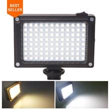 Ulanzi 96 Telefone LED Luz de Vídeo Foto Iluminação on Camera Hot Shoe Lâmpada LED para iPhoneX 8 Filmadora Canon/ nikon DSLR Transmissão Ao Vivo
