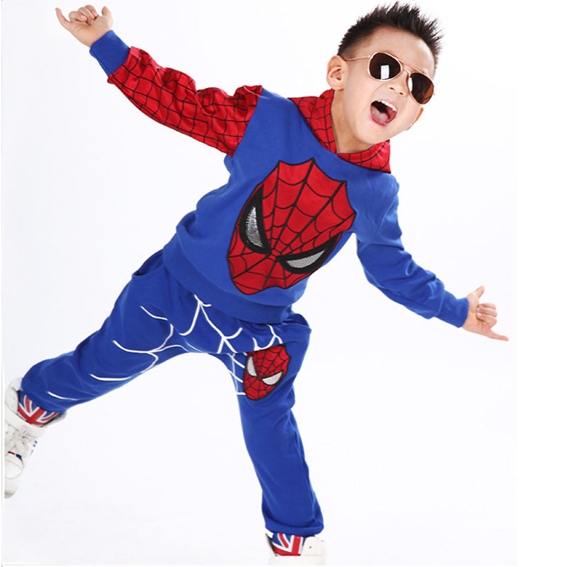 Children Clothing Boy Sets Fashion Active Spiderman Sports Boy Clothes Sets Kids Suits 2 pieces Tracksuits Kids Clothing Sets