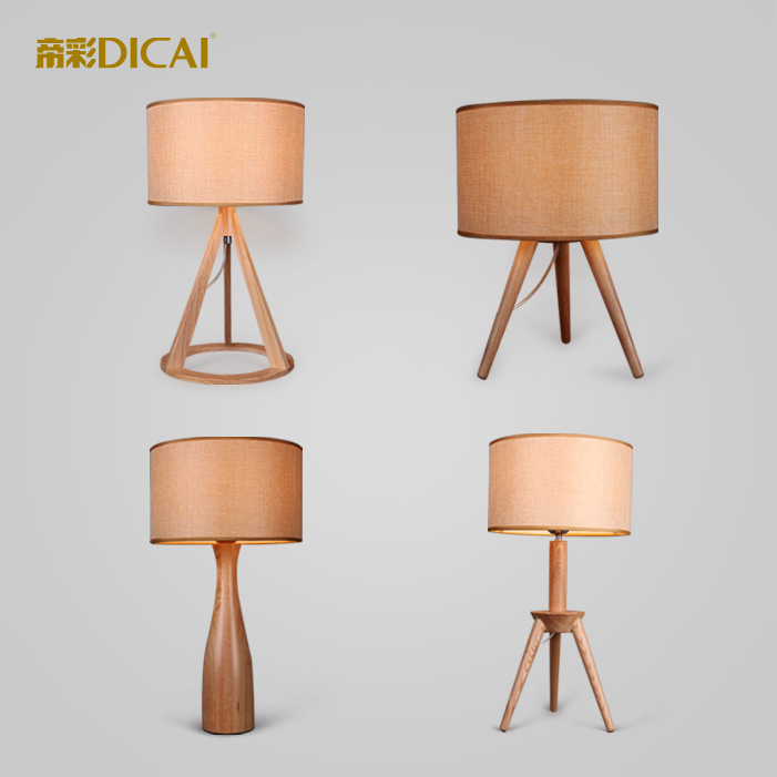 ФОТО Creative Wood Lamps Modern Living Room Lamp Desk Light Bedroom Lighting Luminarias Indoor Lightings