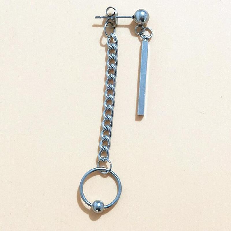 1pcs BTS Earrings Fashion Jewelry Korean Bangtan Boys Album DNA Stainless steel Stud Earring For Women Men Tassel geometry