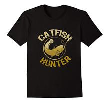 Catfish Hunter, Tournament Fisher T Shirt  Free shipping newest Fashion Classic Funny Unique gift