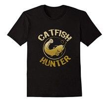 цена Catfish Hunter, Tournament Fisher T Shirt  Free shipping newest Fashion Classic Funny Unique gift онлайн в 2017 году