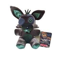 Nova chegada 18cm fnaf cinco noites no freddy 4 pesadelo foxy raposa recheado de pelúcia brinquedos de brinquedo macio boneca presentes para crianças