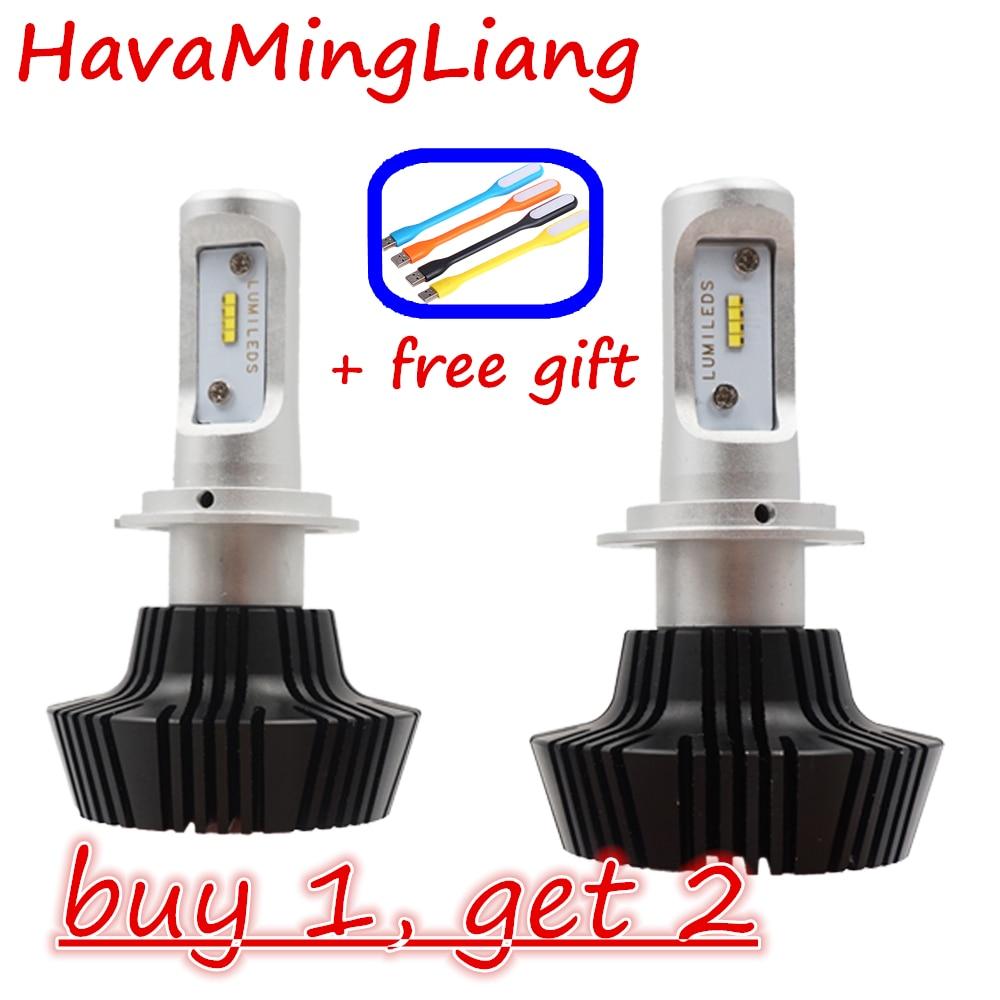 Car LED Lights H7 H4 9005 9004 9007 H13 HB3 Auto Car Headlight 80W 8000LM High Low Beam Automobiles Lamp Cool white 6000K Bulbs