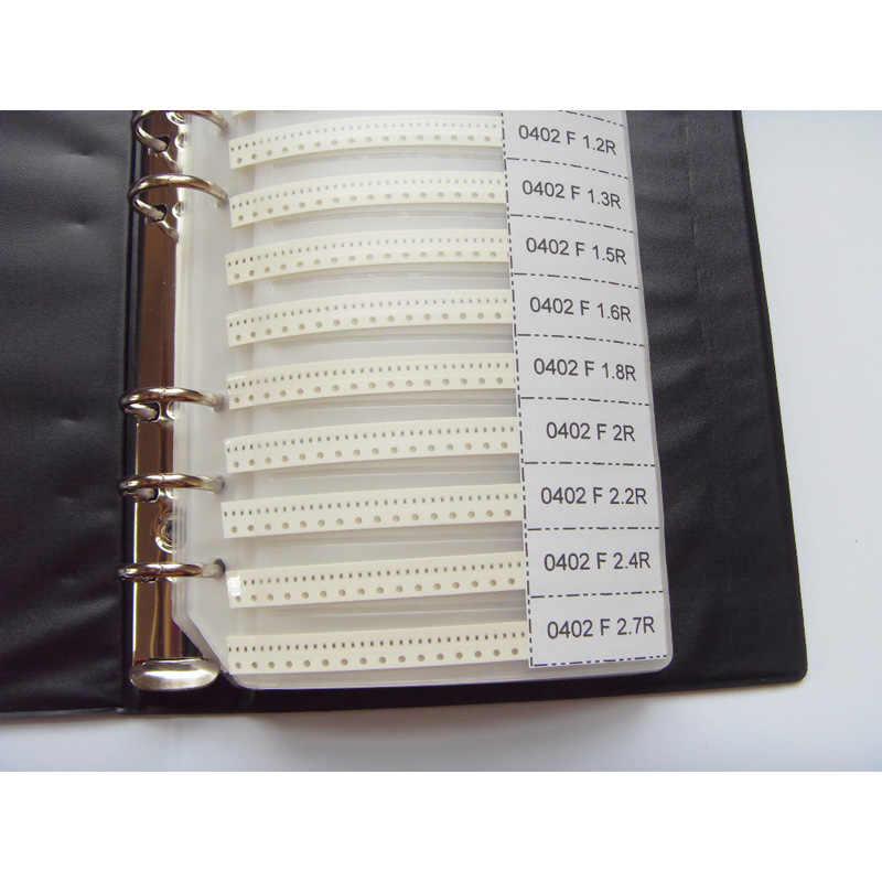 0402 SMD образец резистора книга 1% Допуск 170valuesx50 шт = 8500 шт Резистор Комплект 0R ~ 10 м