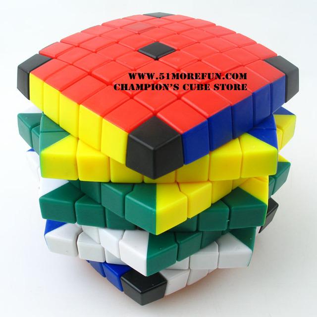 Lanlan 7 x 7 x 7 Cubo mágico Puzzle blanco y negro y siete colores a todo color de aprendizaje y juguetes educativos Cubo juguetes como un regalo