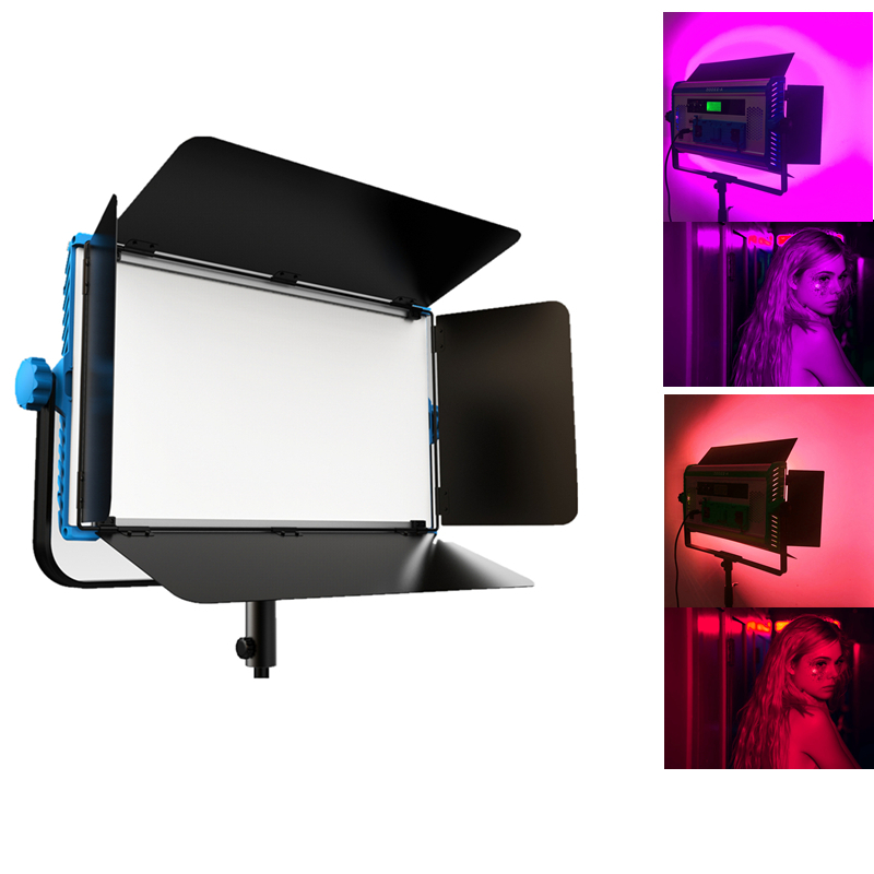 Yidoblo A-2200c Dimmable 140W RGB 4 Colors Pro LED Lamp Video Film LED Soft Light Panel With LCD Screen Phone App Remote Control