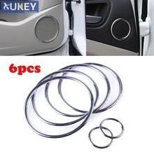 Cubierta de altavoz estéreo cromado para Ford Escape Kuga, moldura de marco de anillo, guarnición envolvente, 2013-2015, 2016, 2017, 2018