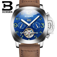 Sports Military Luxury Watches For Men Automatic Mechanical Watch  Leather Waterproof Wristwatch New BINGER relogio masculino|watch for|watches for menwatch for men automatic -