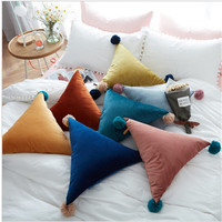 New Modern Soft Warm Fresh Triangle Shape Sweet Cushion Sofa Bed Decorative Pillow For Home Store
