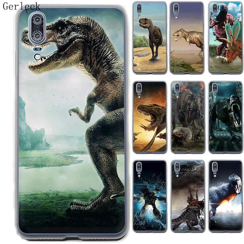 Жесткий чехол для телефона Desxz Dinosaur Huawei P30 P8 P9 P10 P20 Pro Plus Lite Mini P Smart Cover