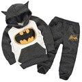 Crianças Batman Conjuntos de Roupas Incluem Casaco E Calça Crianças Conjuntos de Roupas 2017 Roupas de Outono Do Bebê Das Meninas Dos Meninos Batman Ternos Casuais